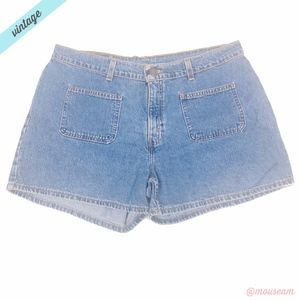 [Levi's] VTG Light Wash High Waisted Shorts
